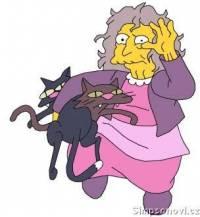 Kočičí dáma je známa rodáváním koček.Kolik koček simpsonovým věnovala? (náhled)
