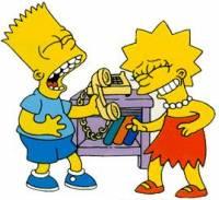 """Bart si rád,vystřeluje z lidí tím,že provádí """"telefonáty"""".Ze kterého dílu je tento telefonát?:B-halo,je tam pan hajzl?Iniciály WC.V-moment zeptám se.. (náhled)"""