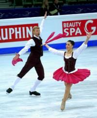 Taneční pár na fotografii č.14 tvoří krasobruslaři: (náhled)
