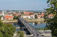 Jak se jmenuje bývalé hlavní město Litvy? Město leží na řece Němen (Nemunas). (náhled)