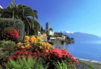 Letovisko Ticino Brissago, které je na fotografii, se nachází na břehu jezera: (náhled)