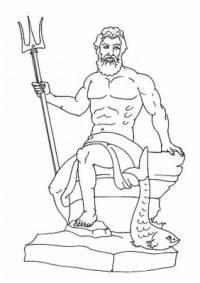 Bůh moře Poseidón drží v ruce: (náhled)