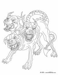 Vchod do podsvětí střežil trojhlavý pes: (náhled)