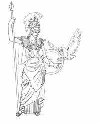 S helmou a kopím v ruce bývá vyobrazena bohyně: (náhled)