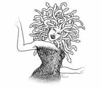 """Ve starověké řecké mytologii můžeme nalézt """"ženu"""", která měla místo vlasů živé jedovaté hady. Kdo se podíval do jejích očí, ten na místě zkameněl. Jaké tato """"žena"""" nesla jméno? (náhled)"""