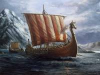 Válečná loď Vikingů (na obrázku) se nazývala: (náhled)