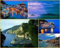Jak se jmenuje pobřeží, pro které jsou typická letoviska na fotografii č.8? Pro svoji přírodní rozmanitost a malebná romantická letoviska bylo zapsáno na seznam UNESCO v r.1997. (náhled)