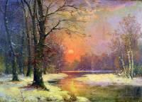 """Autorem obrazu č.11 """"Západ slunce v zimě"""" je slavný malíř: (náhled)"""