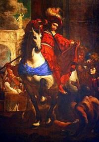 """Který slavný malíř namaloval obraz č.4 """"Svatý Martin se dělí o plášť se žebrákem""""? (náhled)"""