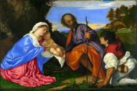 """Obraz č.6 """"Svatá rodina s pasáčkem"""" namaloval slavný malíř: (náhled)"""