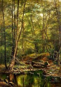 """Který slavný malíř je autorem obrazu č.8 """"Lesní rybník""""? (náhled)"""