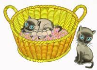"""Obrázek č.15, který je jednou z ilustrací ke knížce pro děti """"Z deníku kocoura Modroočka"""" namalovala malířka: (náhled)"""
