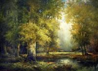 """Malíř, který namaloval obraz č.17 """"V lese"""" se jmenuje: (náhled)"""