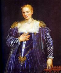 """Obraz č.18 """"Portrét Benátčanky"""", známý též pod názvem """"Krásná Nani"""" namaloval slavný malíř: (náhled)"""