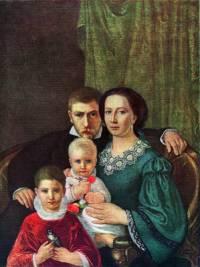 """Který slavný malíř je autorem obrazu č.20 """"Podobizna rodiny řezbáře Vorlíčka""""? (náhled)"""