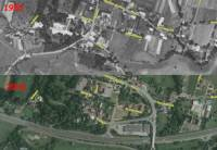 Snímky z let 1955 a 2006 porovnávají kterou část Šenova? (náhled)