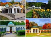 Ve kterém lázeňském městě byly postaveny klasicistní a empírové pavilony léčivých pramenů na fotografii č.8? (náhled)