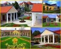Komplex empírových staveb na obrázku č.9 byl vybudován v lázeňském městě: (náhled)