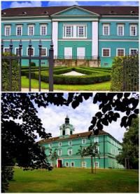 V empírovém slohu bylo vystavěno i mnoho paláců a zámků. Jak se jmenuje zámek na obrázku č.10? (náhled)