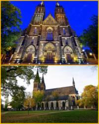 Která sakrální stavba, přestavěna v období romantismu v novogotickém slohu, je na obrázku č.3? (náhled)