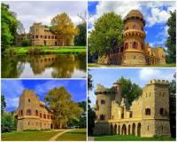 K módním stavbám v období romantismu patřily i umělé zříceniny hradů. Jak se jmenuje umělá zřícenina hradu na fotografii č.23? (náhled)
