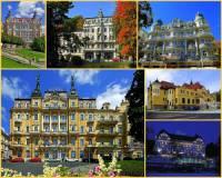 Luxusní lázeňské hotely na fotografii č.6 jsou dílem architekta-stavitele Arnolda Heymanna, který proslul svým svébytným architektonickým stylem založeným na výběru toho nejlepšího z různých stavebních slohů. Tak vznikly i tyto reprezentativní stavby v lázeňském městě: (náhled)