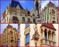 Ve 2. polovině 19. století vznikaly reprezentativní budovy, které neměly jednotný styl. Při stavbě domů byly použity stavební prvky z několika různých, nejčastěji pseudoslohů. Jakým architektonickým pojmem se nazývá volné mísení historických slohů na jedné stavbě, jaké vidíte na obrázku č.1? (náhled)
