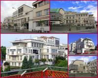 Ke stavebním stylům v období mezi 2 světovými válkami (1918 – 1939) patřil i expresionismus, ve kterém je postavena budova na fotografii č.22. Jak se budova jmenuje a kde se nachází? (náhled)