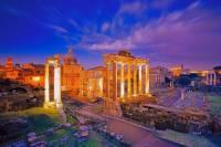 Která významná historická památka v Římě je na fotografii č.1? (náhled)
