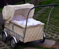 V kterých letech 20. století vozily maminky svá miminka nejvíce v kočárku na fotografii č.8? (náhled)