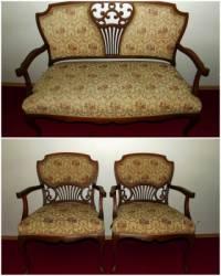 Souprava dvoukřesla a židlí na obrázku č.4 pochází z historického období: (náhled)