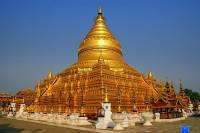 Jak se jmenuje unikátní stavba na obrázku č.3 – pagoda pokryta pravým zlatem? (náhled)