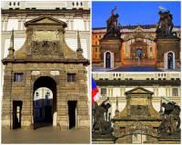 Součástí Pražského hradu je i historická stavba na obrázku č.14. Jak se jmenuje a na kterém hradním nádvoří se nachází? (náhled)