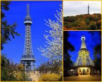 Jmenuje se vrch, na kterém stojí rozhledna na fotografii č.16 Petřín?  Od kterého roku tvoří rozhledna, která je zmenšeninou světoznámé Eiffelovy věže v Paříži, jednu z dominant Prahy? (náhled)
