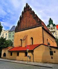 Historická stavba na obrázku č.4, která patří k významným pražským židovským památkám se jmenuje: (náhled)