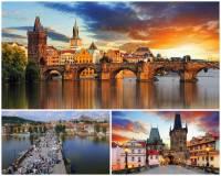 Která pražská památka je na fotografii č.1?  Nad kterou řekou se klene most na fotografii č.1? (náhled)
