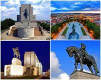 Jmenuje se vrch, na kterém stojí Národní památník a 3. největší bronzová jezdecká socha na světě, Vyšehrad? - fotografie č.20   Jak se jmenuje jezdec na koni, kterého zobrazuje socha na fotografii č.20?                             (náhled)