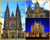 V areálu Pražského hradu se nachází několik světských i sakrálních staveb. Jak zní celé jméno významné sakrální stavby na fotografii č.4? (náhled)