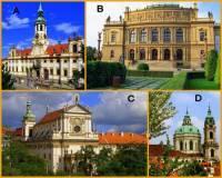 Označte památky Prahy na fotografii č.3, které pochází z období BAROKA: (náhled)