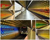 Na které lince pražského metra jsou stanice na obrázku č.12? (náhled)