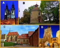 Označte pražské památky na obrázku č.2, které byly postaveny v období GOTIKY: (náhled)