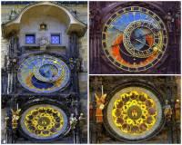 Jednou z nejvýznamnějších památek Prahy je Staroměstský orloj na obrázku č.4. Označte údaje o památce na fotografii č.4, které JSOU pravdivé: (náhled)