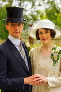 """Jsou na fotografii č.25 novomanželé Lady Mary Talbotová, rozená Crawleyová a pan Henry Talbot ze seriálu """"Panství Downton""""? (náhled)"""