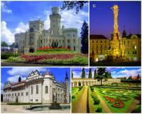 Na území ČR se nachází (ke dni 4.4.2019) 12 památek zapsaných na seznamu světového kulturního dědictví UNESCO. Označte písmena, pod kterými jsou na fotografii č.1 památky UNESCO: (náhled)