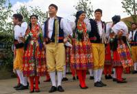 Ke kulturním tradicím ČR patří i český folklór (národopis) = dodržování lidových tradic, zvyků, písní, tanců a krojů. Z které národopisné oblasti ČR jsou kroje na fotografii č.3? (náhled)