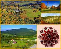 Hora na obrázku č.11 je s nadmořskou výškou 744 m dominantou chráněné krajinné oblasti, která patří k nejkrásnějším a turisticky nejatraktivnějším místům ČR. Hora byla již od dávných dob vyhledávaným nalezištěm drahých kamenů. Proslula zejména jako naleziště českého granátu. Jak se hora jmenuje? (náhled)