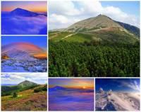 Jak se jmenuje hora na fotografii č.5? Je nejvyšší a je jednou z nejznámějších a nejnavštěvovanějších hor v ČR. (náhled)