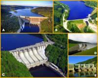 Která přehradní nádrž je na fotografii č.2 označena písmenem C? (náhled)
