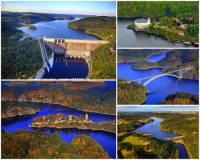 Jak se jmenuje přehradní vodní nádrž zadržující největší objem vody v ČR na fotografii č.4? (náhled)