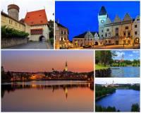 Jak se jmenuje vodní plocha ve městě Tábor na fotografii č.9 označovaná jako rybník, ale ve skutečnosti se jedná o nejstarší přehradní nádrž v ČR? (náhled)